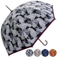 雨晴兼用ネコシルエット柄ジャンプ傘