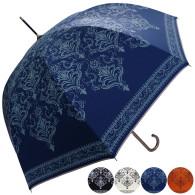 雨晴兼用バロック柄ジャンプ傘