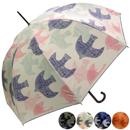 雨晴兼用バード柄ジャンプ傘