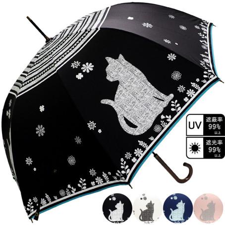 雨晴兼用 ビックねこ柄ジャンプ傘