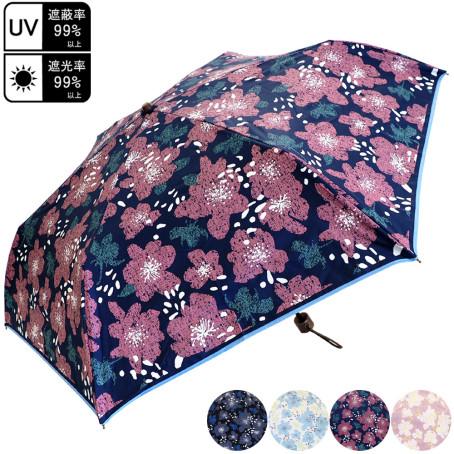 晴雨兼用 花柄 折畳み傘