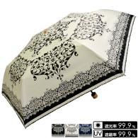 晴雨兼用 バロック・ダマスク柄折畳み傘