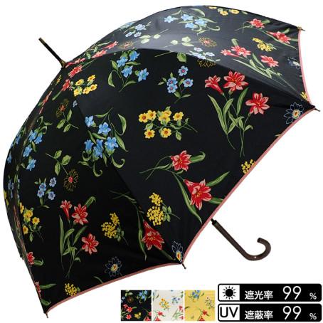 晴雨兼用 花柄ジャンプ傘
