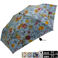 晴雨兼用 花&蝶柄 折畳み傘