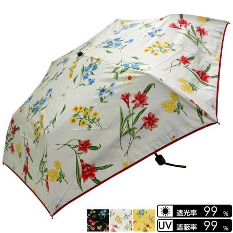 晴雨兼用 花柄折畳み傘
