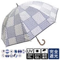 完全遮光 晴雨兼用傘 超撥水 ブラックコーティング マルチ柄ショート傘